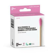 💚 Humble Brush Natural Bamboo Cotton Swabs Pink 100 pieces