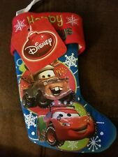 Disney Pixar Cars Lightning McQueen Christmas Mini Stocking and stocking holder