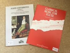 flute favourites vol. 1 + Classical Music for Flute. Both new.