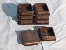 """12 Black Plastic Caplugs 2""""x2"""" for Square Tubing Cap Plugs"""