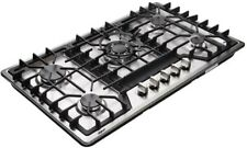 "34"" Gas Cooktop Dual Fuel 5 Sealed Burners Gas Cooktop Stainless Steel Drop-In"