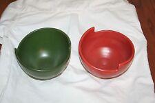 Hand Crafted Clay Rice Bowls, Signed Mark Klammer Roycroft Renaissance Mark