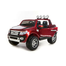 FORD RANGER WILDTRAK RIDE IN CAR PAINTED  DEEP RED 12 VOLT BLACK LEATHER SEAT