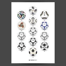 Adidas Coupe du monde football histoire Poster-Tango-fevernova - - Brazuca-JABULANI
