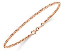 14K Rose Pink Gold Polished Beaded Bracelet