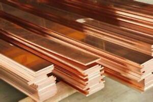 1pcs 99% Copper T2 Cu Metal Flat Bar Plate 8mm x 50mm x 100mm