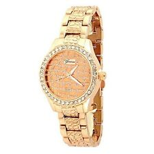 Rose Gold Crystal Watch Moroccan Designer Fashion Women Boyfriend