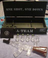Munitions Crate A-TEAM Vodka - Gift Set - AK47 Decanter, Grenades, Shot Glasses