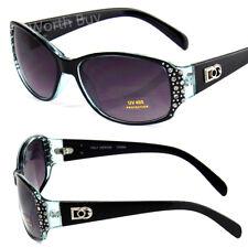Blue New DG Designer Womens Rhinestones Sunglasses Fashion Rectangular Small 98