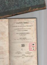 sainte bible contenant l'ancien et le noveau testament per le r.p. de carrieres
