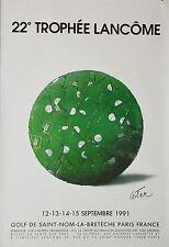 AFFICHE ANCIENNE ORIGINALE - TROPHÉE LANCOME - 1991 CÉSAR -120 x 160 cm