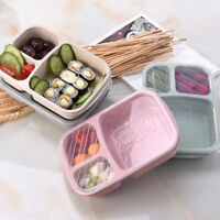 UK Microwave Bento Lunch Box Picnic Food Fruit Container Storage Box For Kids