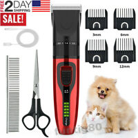 USB Electric Hair Trimmer Shaver Pet Dog Professional Hair Clippers Grooming kit