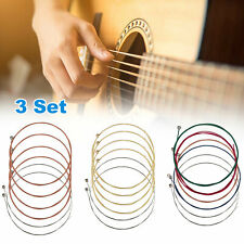 3 Sets of 6pcs Colorful 1st-6th String Steel Strings Acoustic Guitar Strings Set