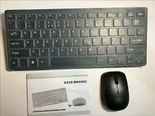 Black Wireless Small Keyboard & Mouse for Toshiba 48L5453DB Full HD Smart LED TV