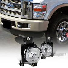 2008-2010 Ford F250/F350/F450 SuperDuty Clear Lens Bumper Fog lights+Switch