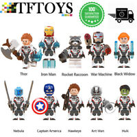 10Pc Marvel Avengers Super Heroes Minifigures superhero Quantum suit Mini Figure