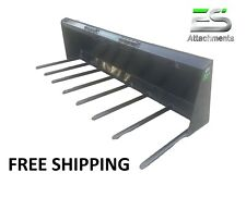 Es 72 Manure Fork For Skid Steer Quick Attach Loader Free Shipping