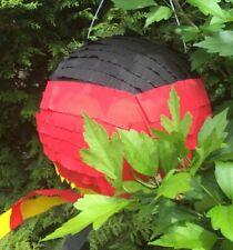 Pinata Fussball  Deutschland Fahne Schlagpinata schwarz rot gold Partyspass Box