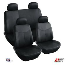 LEATHERETTE SEAT COVERS SET PROTECTORS BLACK FOR VW GOLF MK3 MK4 MK5 MK6 TOURAN