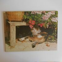 Puzzle Chat fait main IN Menton 1990 vintage art déco PN France N2303