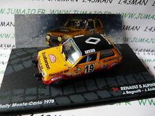 RIT15M 1/43 IXO Altaya Rallye : RENAULT 5 ALPINE J.RAGNOTTI Monte Carlo 1978
