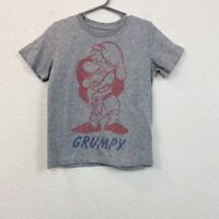 Peek Disney Grumpy Seven Dwarfs Happiness Quote Short Sleeve Tee Unisex size 2/3