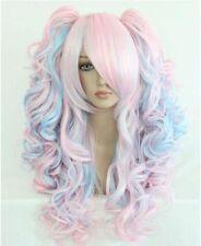 "26"" Light Pink mixde Multi-Color 2 clips lolita Wig Kanekalon Wig"