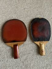 Vintage Antique Table Tennis Rackets Paddles. One Is Double Happiness Shanghai.