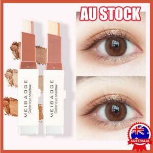 Glitter Double Colour Gradient Eyeshadow Stick Two Tone Eye Shadow Pen,Cosmetics