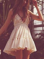 Vintage Sexy Hippie Boho Strapless Tiered Skirt Sundress Mini Party Beach Dress