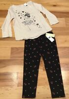 Baby Gap Girls 5 / 5T Outfit. Sparkly Ballerina Shirt & Floral Leggings. Nwt