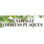 Sand Cast Address Plaques