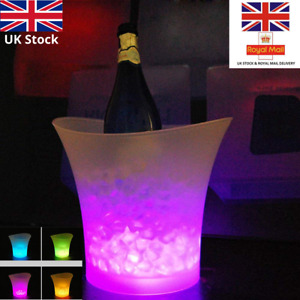 5L LED ICE BUCKET Changing Champagne Wine Drinks Cooler Light Up 7 Color Glowing