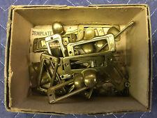 Brass Finger Pulls - Card Catalog Hardware.  Lot Of (16)