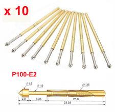 10 x Spring Test Probe  Spring Test Probe de test P100-E2 Dia 1.36mm 180g