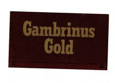 USA - Beer Label - Pittsburgh Brewing Co, Pittsburgh, PA - Gambrinus Gold