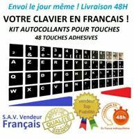 2 lots Sticker Autocollant AZERTY NOIR complet Touches de Clavier d'Ordinateur