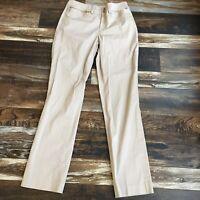 Lauren Ralph Lauren Chino Pants Size 4 Khaki Straight Leg 28x30.5 Dress Slacks
