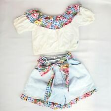 Kids two peice size 10 outfit girls vintage shorts