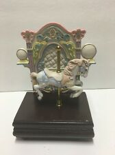 "Musical Carousel Horse Melodies by Willitts Music Box ""Carousel Waltz"""