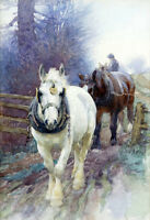 No framed artwork Oil painting Horses On the edge of the Sierra Nevada canvas