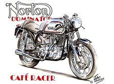 Norton Dominator 1960s Cafe Racer British Motorbike Motorcycle Birthday Card