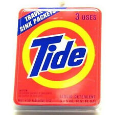 TIDE TRAVEL SINK PACKETS-Hand Sink Wash,Liquid Detergent,1 PACKS OF 3(3-USES)