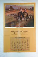 Vintage 1974 Tom Ryan The Hertitage Western Calendar Print
