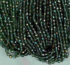 AL192 4mm Fire Polished Glass Beads-PRAIRIE GREEN CELSIAN (50)