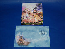 "#55105 WOLF MAIDEN 5"" X 7"" BLANK GREETING CARDS AND ENVELOPES PACK OF FOUR"