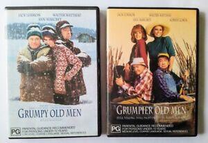 Grumpy Old Men PLUS Grumpier Old Men, 2 DVDs, PAL R4, Jack Lemmon Walter Matthau