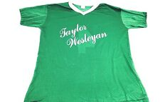 Vintage Taylor Wesleyan Jersey 1980s Jersey Green Jersey 100% Nylon Jersey L