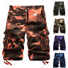 Men's Casual Army Combat Camo Work Cargo Shorts Pants 3/4 Trousers YOGA Bottoms